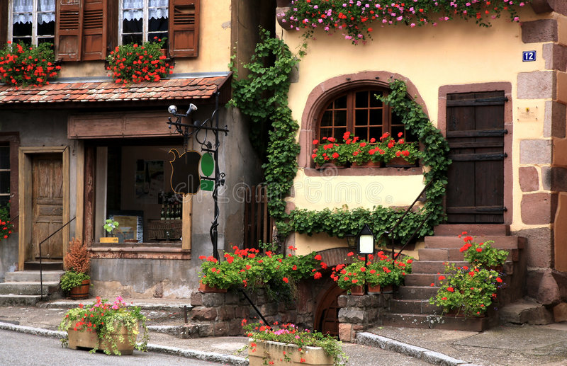село франчуза alsace Франции стоковые изображения
