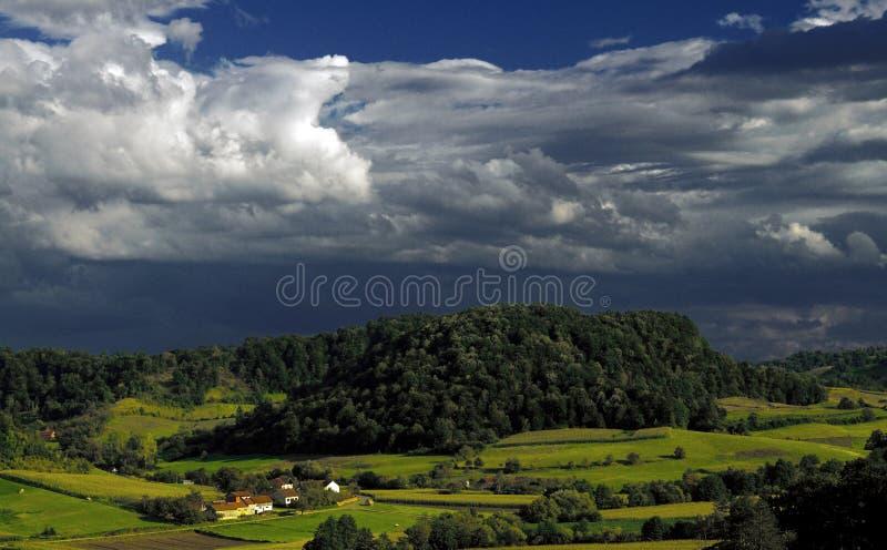 село шторма стоковые фото