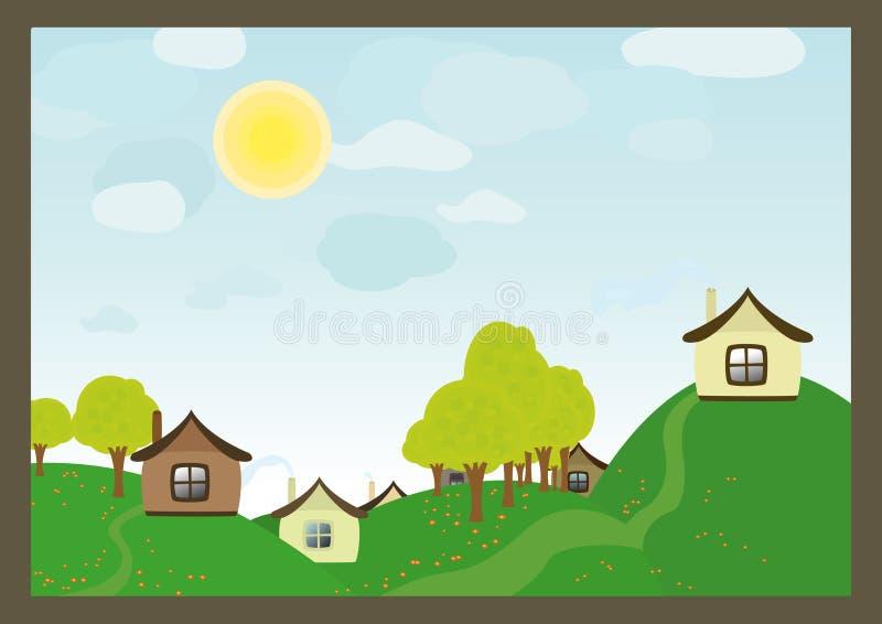 село иллюстрация штока