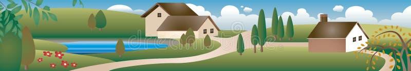 село иллюстрация вектора