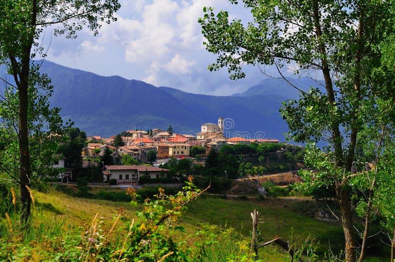 село abruzzo стоковое фото