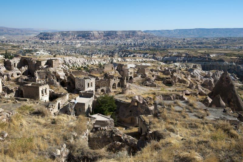 Село Ancinet каменное в Турции, среднем востоке стоковая фотография