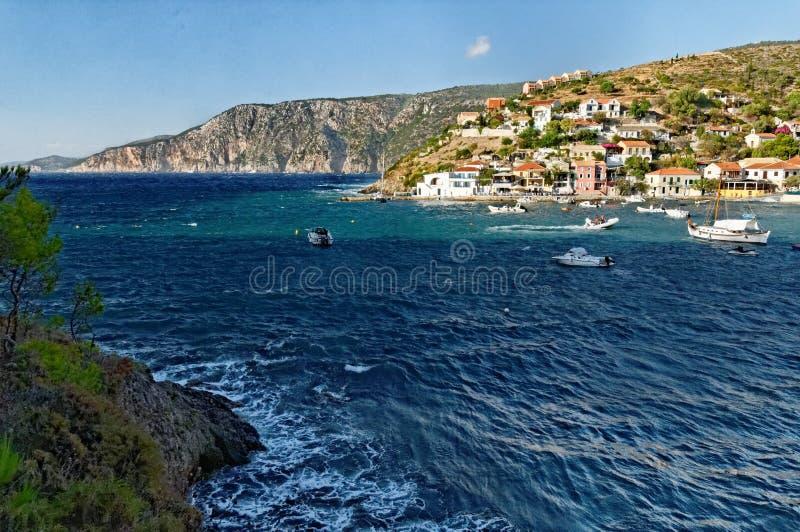 Село Assos стоковое изображение