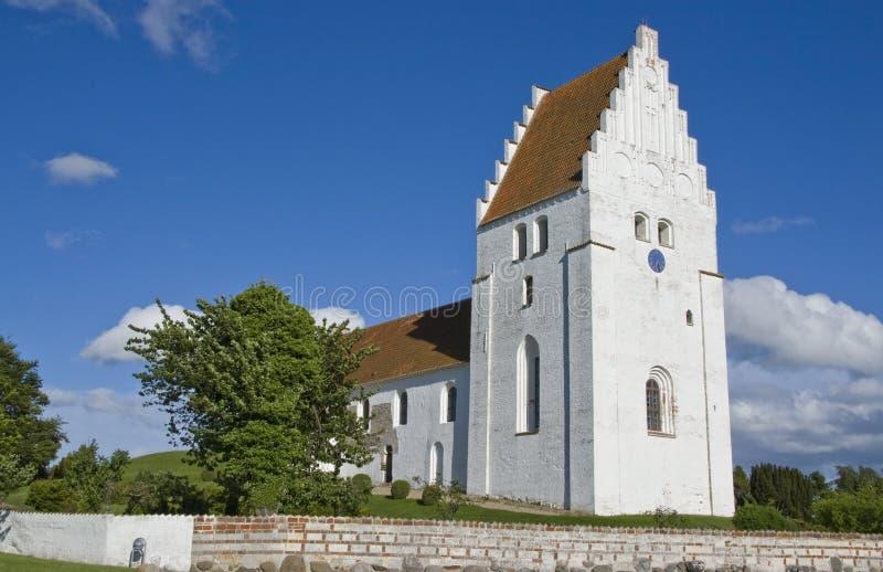 село churc датское традиционное стоковая фотография rf