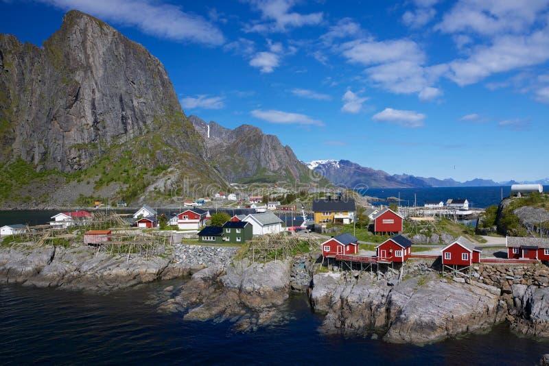 Село Hamnoy на Lofoten стоковое фото rf