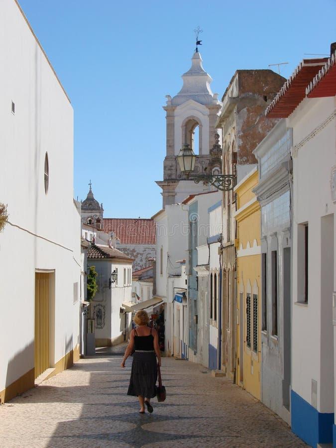 село lagos Португалии стоковые изображения