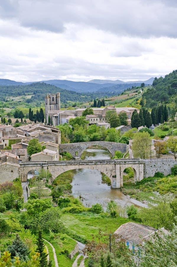 село lagrasse Франции стоковое изображение