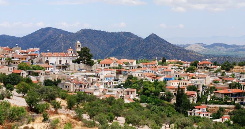 село lefkara Кипра стоковое изображение
