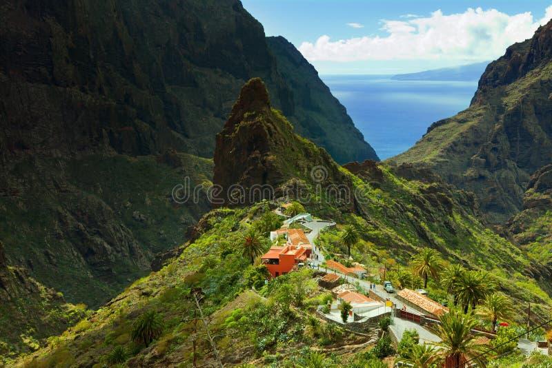 Село Masca в Tenerife стоковые фото