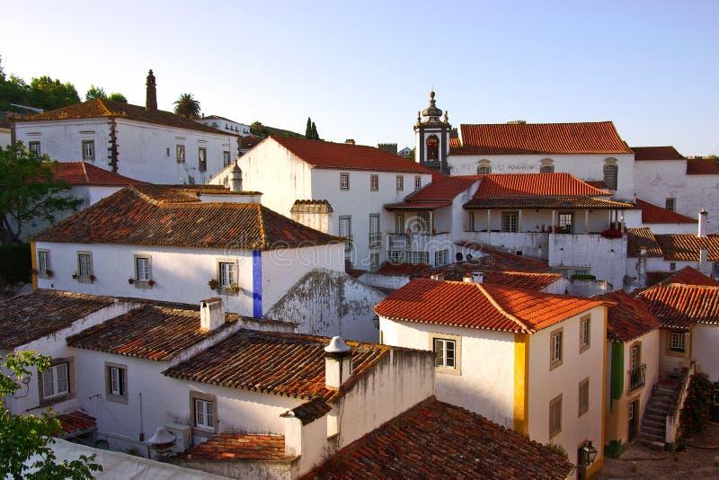 село obidos стоковое изображение rf