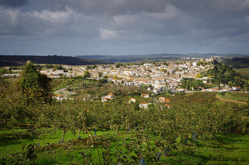Село Obidos стоковая фотография rf