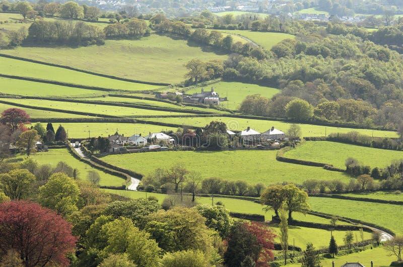село peter tavy стоковое изображение rf