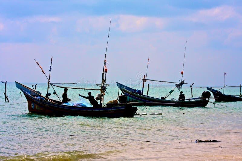 село samui muslims рыболовства максимальное стоковая фотография