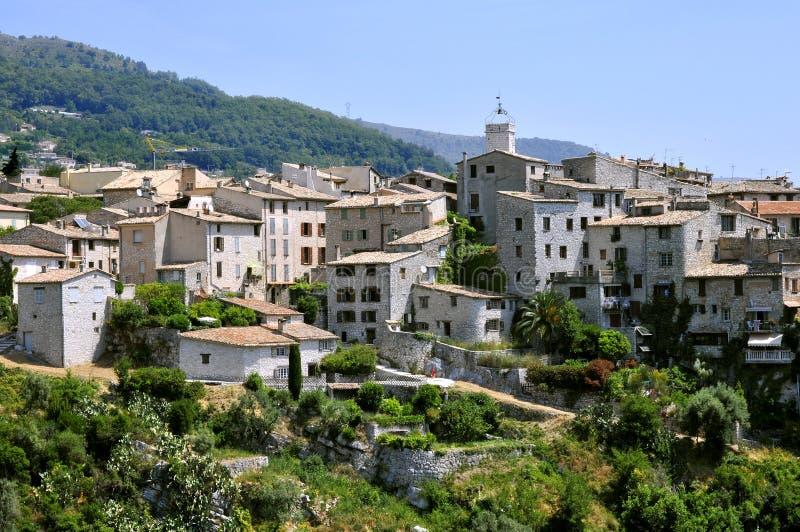 село tourrettes sur loup Франции стоковые фотографии rf