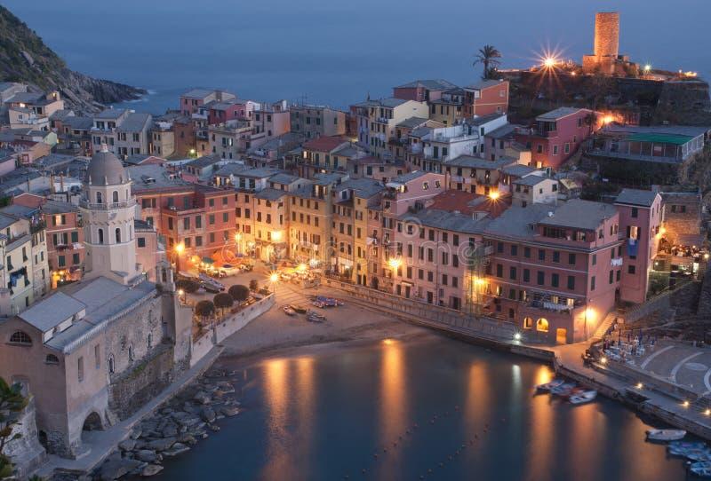 село vernazza Италии стоковая фотография