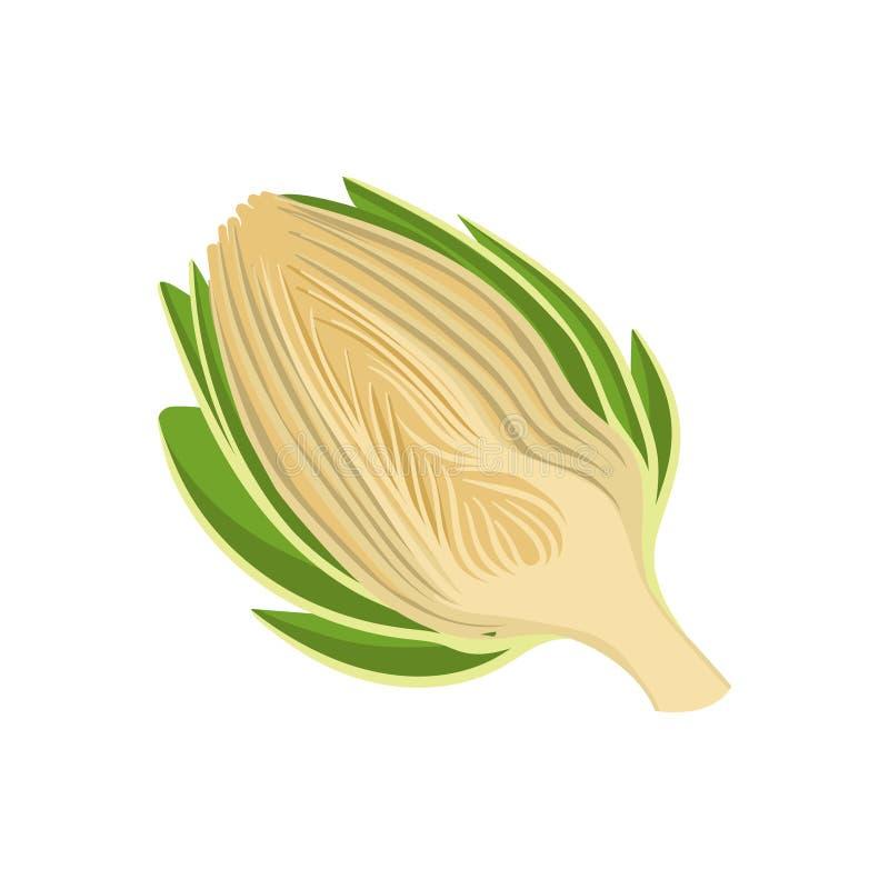 Сельдерей отрезанный на белой предпосылке Зеленый овощ иллюстрация вектора