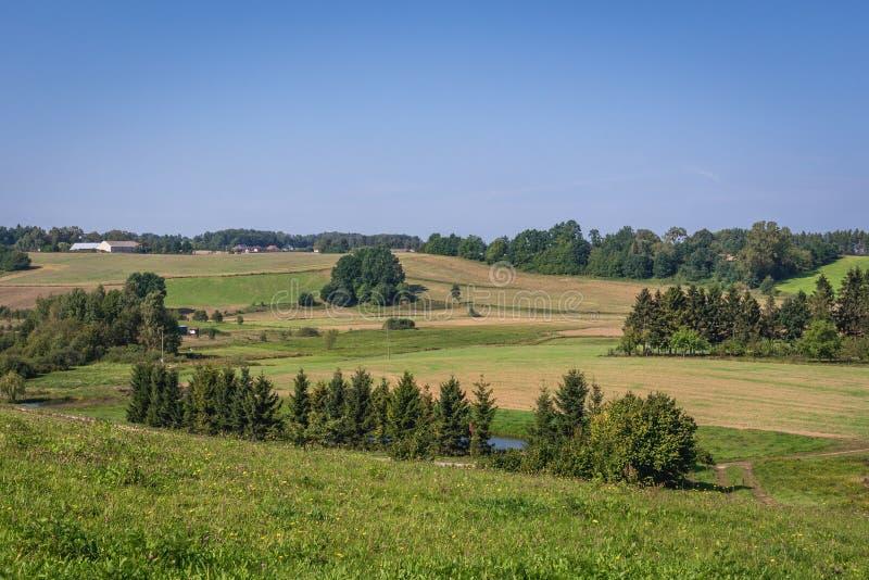 Сельская местность в Польше стоковое изображение