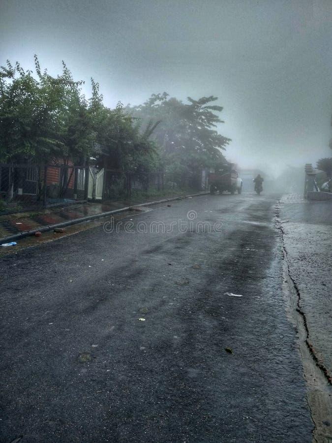 Сельская местность на дождливый день стоковое фото rf