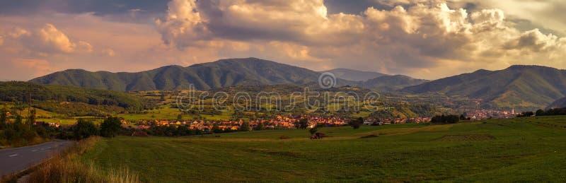 Сельская панорама ландшафта стоковые фото