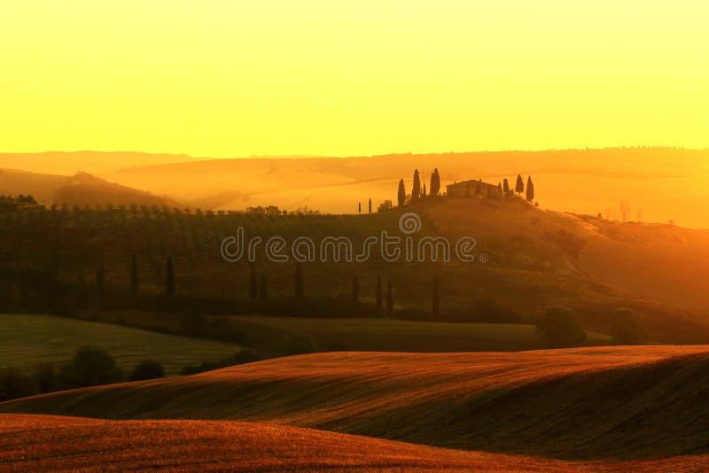 Сельский дом в Тоскане стоковая фотография rf