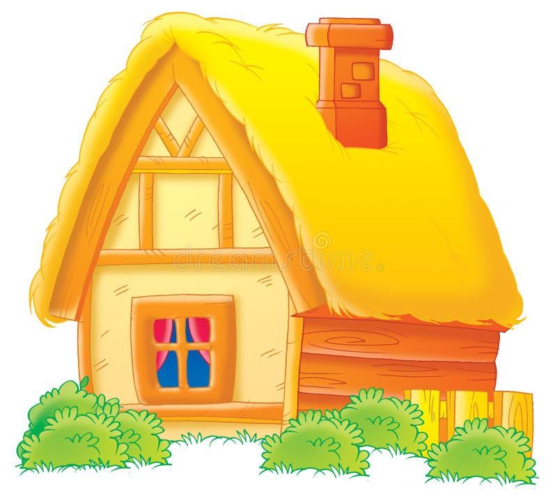 сельский дом бесплатная иллюстрация