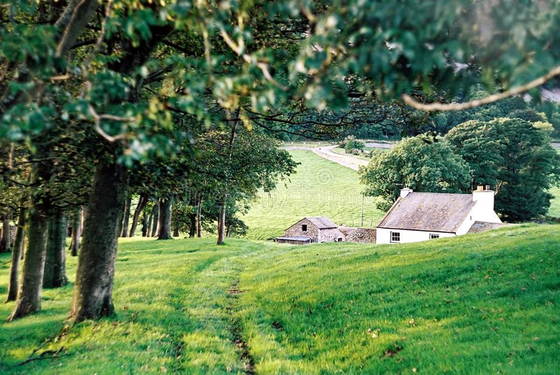 сельский дом стоковое фото rf