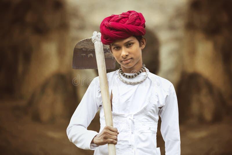 Сельский мальчик стоковое изображение rf