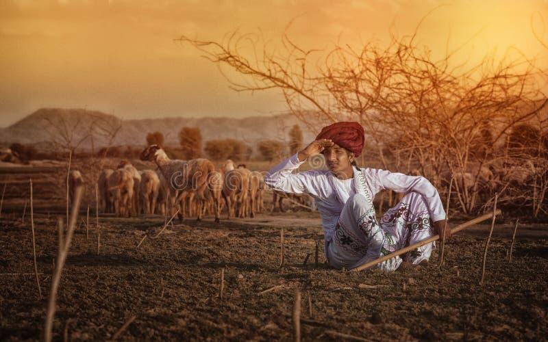Сельский мальчик стоковые фотографии rf