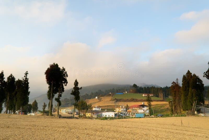 сельский пейзаж стоковое изображение rf