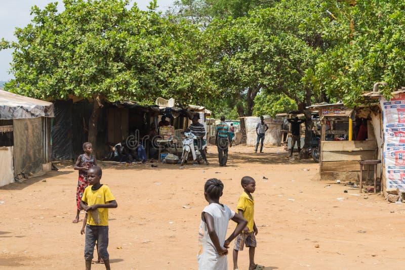 Сельское жилище в Нигерии стоковые изображения