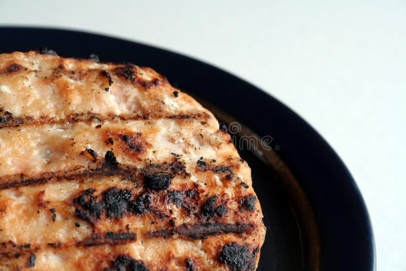 семги бургера стоковое фото