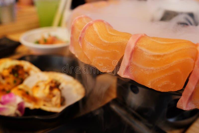 Семги сасими, свежий сырцовый комплект стоковое изображение rf
