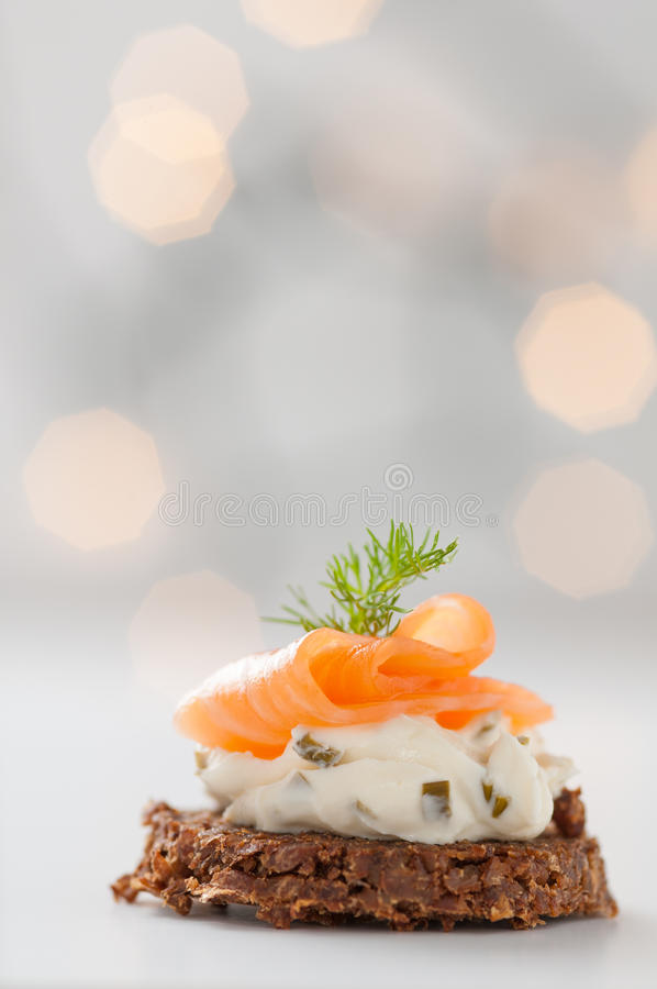 Семги с плавленым сыром стоковое фото