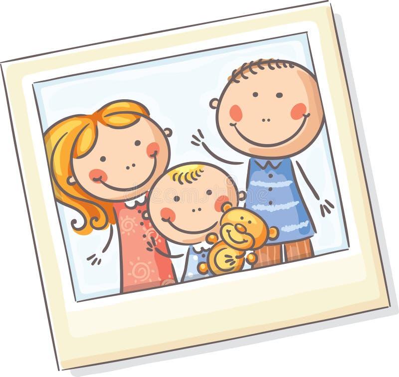 Семейное фото бесплатная иллюстрация