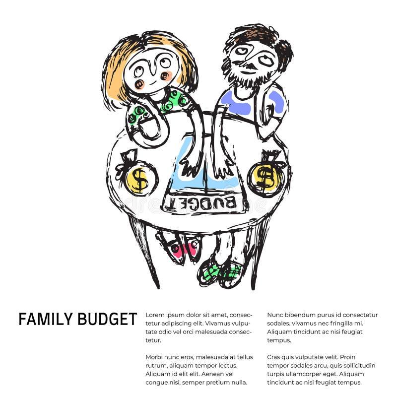 Семейный бюджет подобные 2 стоковое фото