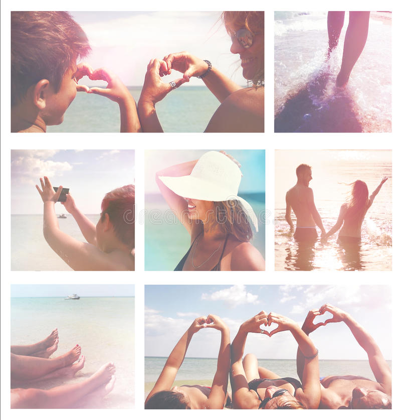 Семейный отдых летних отпусков стоковые изображения
