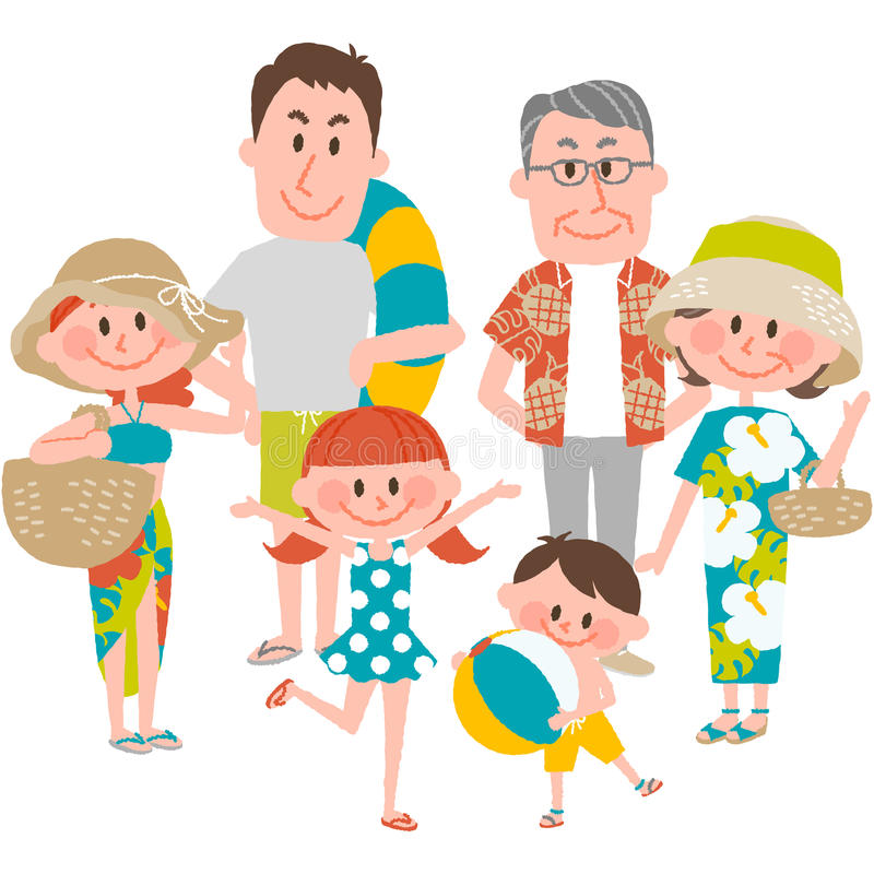 Семейный отдых на пляжном стоковые фото