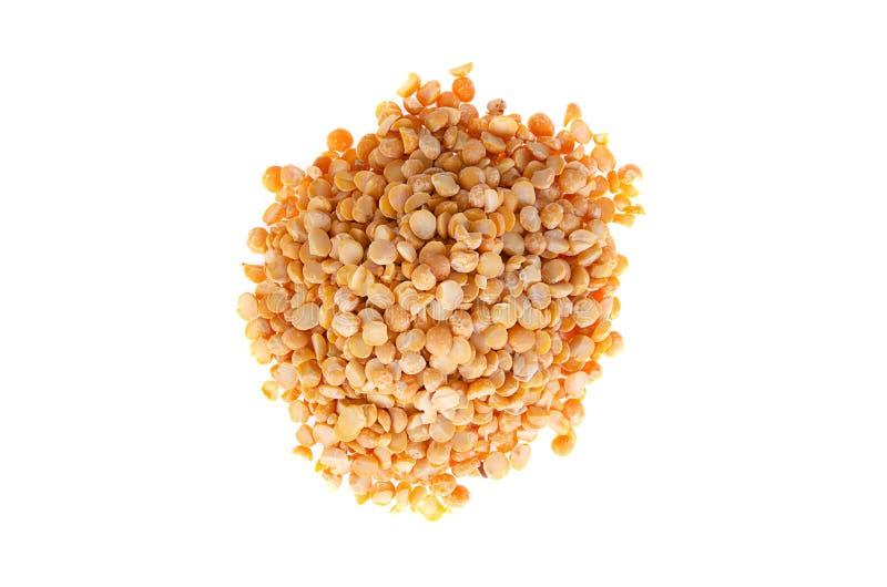 Семена горохов на белой предпосылке Свойственное питание, здоровые продукты здоровья стоковая фотография