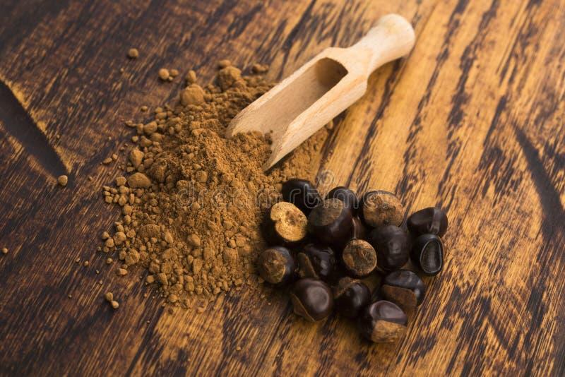 Семена и порошок Guarana стоковые фото
