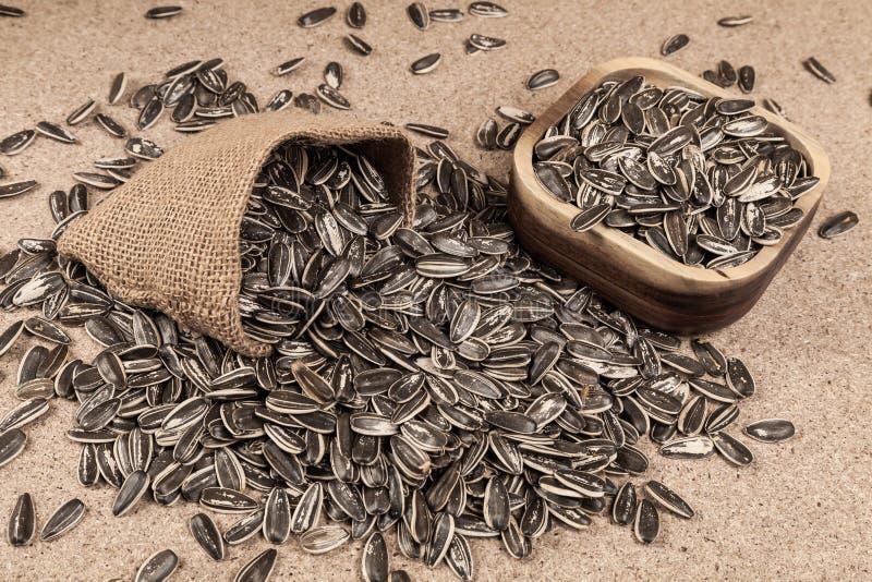 Семена подсолнуха - annuus подсолнечника стоковая фотография rf