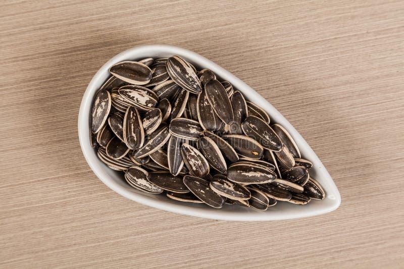 Семена подсолнуха - annuus подсолнечника стоковые фотографии rf