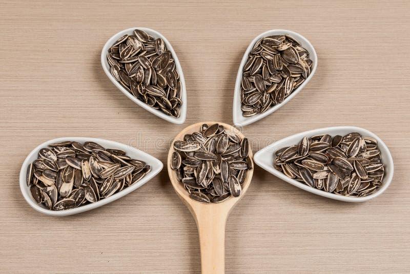 Семена подсолнуха - annuus подсолнечника стоковые изображения