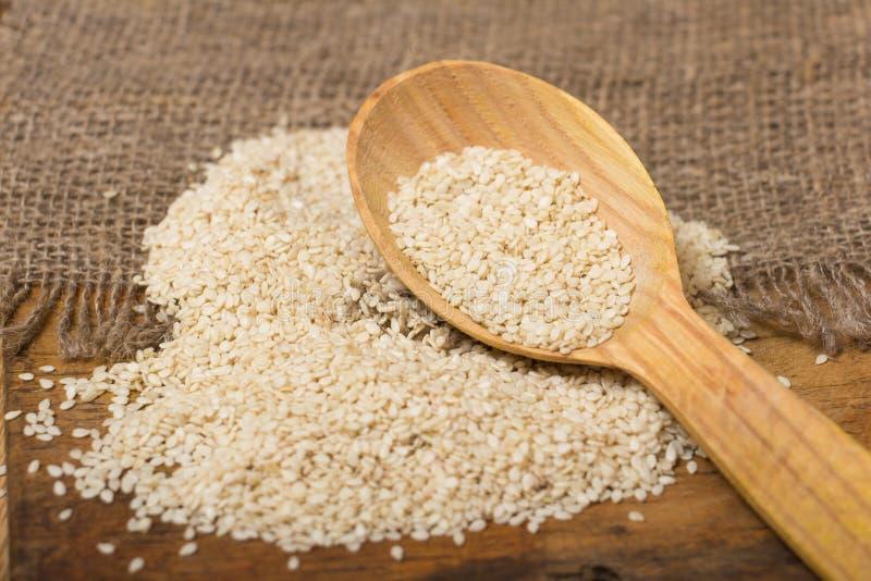 Семена сезама стоковая фотография rf
