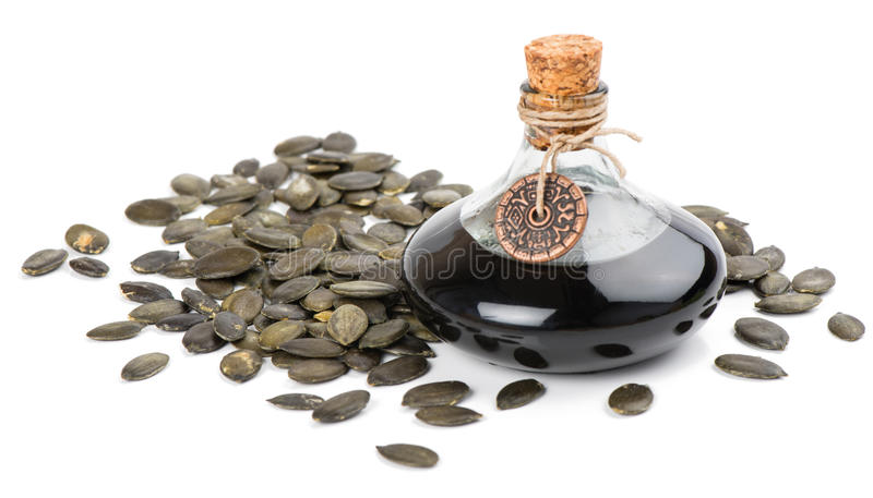 семена семени тыквы масла стоковая фотография rf