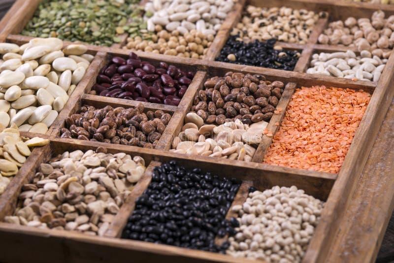 Семена смешанных бобов стоковая фотография rf