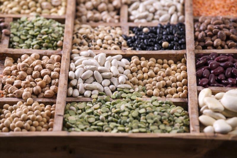 Семена смешанных бобов стоковые фото