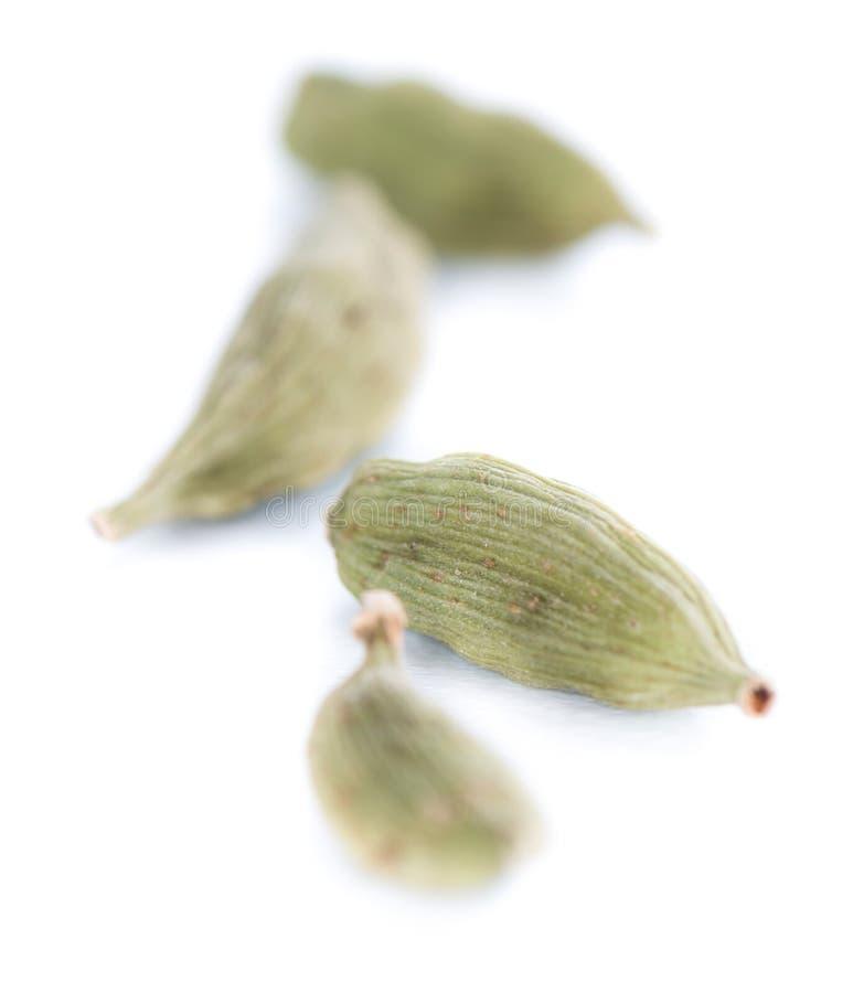 Семена Cardamon изолированные на белизне стоковое фото