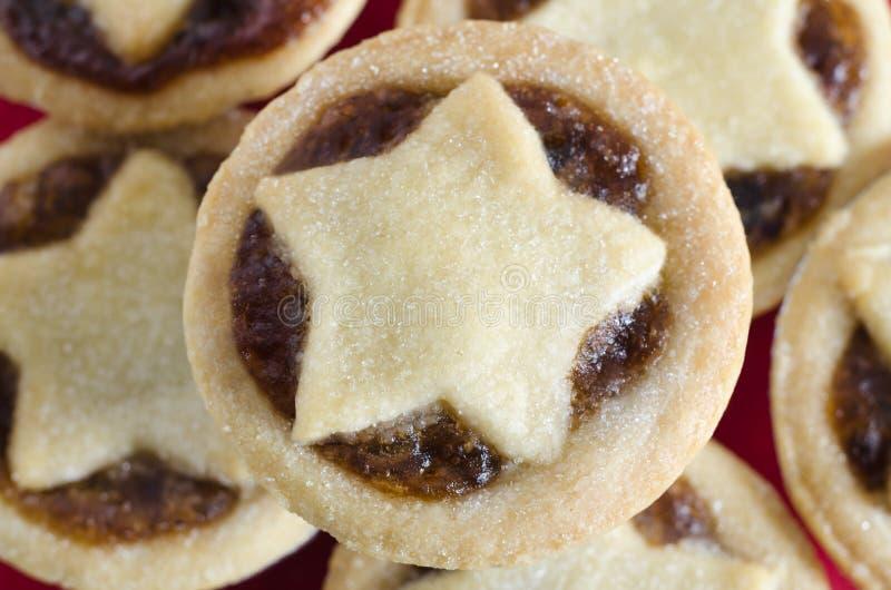 Семените пироги с печеньем сформированным звездой сверху стоковое изображение