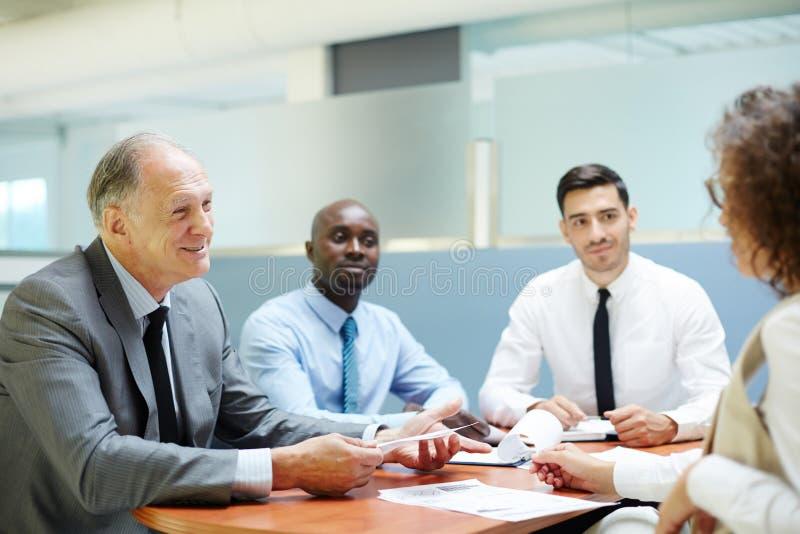 Семинар экономистов стоковое фото rf