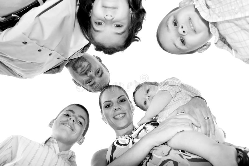 семья большая стоковое изображение rf